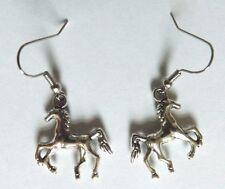 Boucles d'oreilles argentées cheval poulain