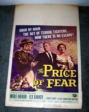 THE PRICE OF FEAR Original 1956 Movie Poster LEX BARKER/MERLE OBERON