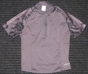 SUGOI Cycling Biking 1/4 Zip Short Sleeve Jersey Gray Womens Large Back Pocket