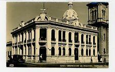 Inspeccion de Policia TAMPICO Vintage Mexico RPPC Tarjeta Postal 1940s