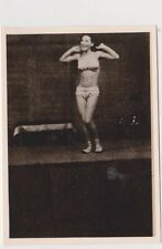 Old Russia USSR 3 original photos WWII Young girl performs acrobatics Годы войны