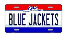Metal Vanity License Plate Tag Cover - Columbus Blue Jackets - Hockey Team
