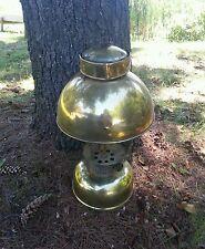 RARE ANTIQUE GOLD TONE COLEMAN L ARC 1st  MODEL LANTERN Restoration Yale??