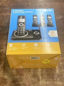AT&T 4-Handset Answering System w/Smart Call Blocker CL82419 Digital Answering