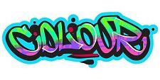 Grafitti Style Graffix Grafix Colours Sticker Decal Graphic Vinyl Label