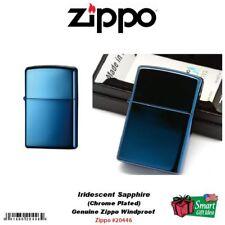 Zippo Iridescent Sapphire Lighter, High Polish Blue, Windproof #20446