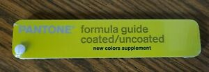 PANTONE FORMULA GUIDE COATED/UNCOATED NEW COLORS SUPPLEMENT 2007 SEALED