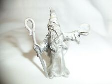 Wizard with Crystal Ball Pewter Spoontiques from 1984
