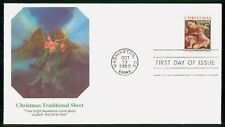 Mayfairstamps US FDC 1989 Christmas Traditional Sheet First Day cover wwf42289