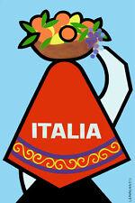 "20x30""Poster Decor.Room design art print..Travel Italy.Italia.Fruit basket.6095"