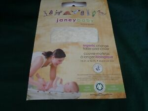 """Janey Baby Organic Cotton Changing Table Pad Cover 16' x 32"""" by Jane Goodall"""