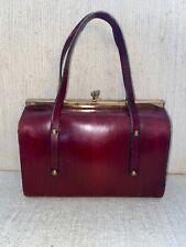Vintage ETIENNE AIGNER Handmade Twist Lock Oxblood  Bag Purse Handbag