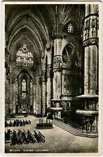 1910 Milano - Vista interna del Duomo di Milano, Visitate l' Italia - FP B/N VG
