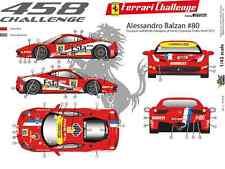 [FFSMC Productions] Decals 1/43 Ferrari F-458 Challenge 2012 Alessandro Balzan