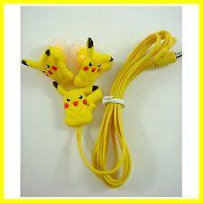 HOT Pokemon Pikachu Mobile Headphone Headset Earphone Earbud For iPhone MP3 /4