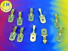 Stk. 10x Kabelschuhe 6.3mm 0.5-1.5mm2  Flat plug / Flachstecker  Cu #A1683