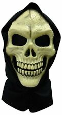 Adult Hooded Skull PVC Mask Reaper Zombie Horror Halloween Accessories