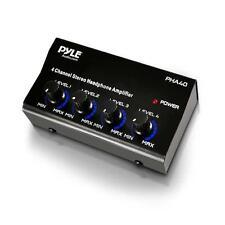 PYLE Pro Music DJ 4 CANALI COMPATTO AMPLIFICATORE per cuffia stereo amplificatore di distribuzione