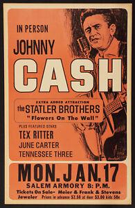 Framed Vintage Music Concert Poster – Johnny Cash (Replica Picture Artwork Art)