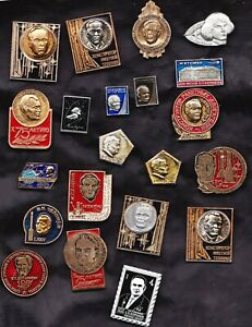 Lot of 21 USSR Sov. space lapel pins/Badges cosmos old _CREATORS