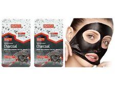 2x Charcoal Dual Step Facial Peel Off Mask Unclogging Pores Deep Absorbing