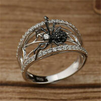 925 Silver Spider Animal Band Ring Women Men Wedding Party Jewelry Gift Sz5-10