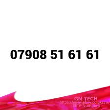 07908 51 61 61 EASY MOBILE NUMBER GOLD DIAMOND PLATINUM VIP BUSINESS SIM CARD