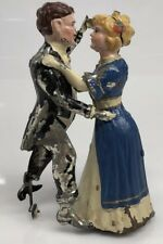 GUNTHERMANN TANGO DANCERS WALTZING COUPLE  ANTIQUE TIN WIND UP GERMAN TOY
