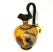 Hand Made In Greece Ancient Greek Pottery Pitcher (Museum Copy)