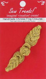 Frogs Button Closures-Metallic Gold-Pineapple Design - 1 Pair/pk. - #FG4758