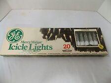 VINTAGE GE GENERAL ELECTRIC MERRY MIDGET ICICLE LIGHTS CHRISTMAS TREE LIGHTS
