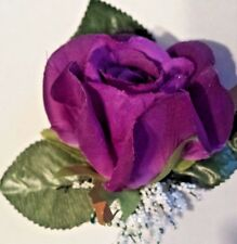 11 Rose Boutonniere*Corsage Purple, Grape *Groom*Best man *Party*Quinceanera