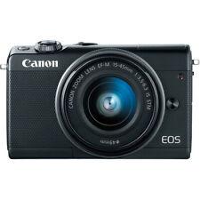 Canon EOS M100 Mirrorless Digital Camera with 15-45mm Lens (Black) -VALUE CAMERA