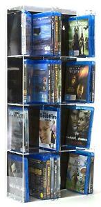 SORA Blu-ray Modulregal mit schwarzer Rückwand für bis zu 84 Blu-ray-Cases