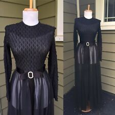 VTG 50s 60s VIXEN Full Sweep Opera Gown MERRY WIDOW Maxi COCKTAIL PARTY Dress