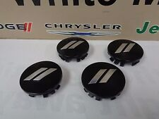 "11-17 Dodge Charger Challenger 20"" Wheel Center Cap Daytona T/A Black 4 pcs OEM"