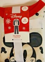 Toddler Mickey Mouse 2 Piece Pajama Set - Black /White Size 18 Months Sale!
