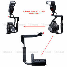Camera Holder Flash Bracket Mount for Canon Nikon Pentax Olympus Metz Speedlite