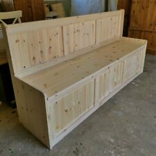 NEW HANDMADE SOLID PINE 6FT BENCH WITH STORAGE UK MAINLAND DELIVERY