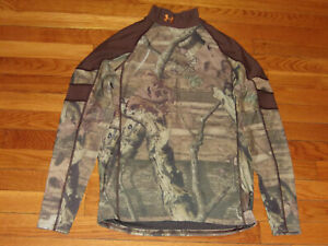 UNDER ARMOUR COLDGEAR CAMO LONG SLEEVE MOCK COMPRESSION JERSEY MENS LARGE EXC.