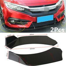 1 Pair Car SUV Front Shovel Bumper Splitter Spoiler Universal Accessory Black