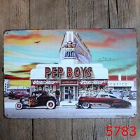 "PEP BOYS GRAND CHAMPION MOTOR OIL 9/"" x 12/"" ALUMINUM Sign"