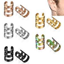 10pcs Unisex Punk Rock Ear Clip Cuff Wrap No Piercing Clip On Earrings Jewelry