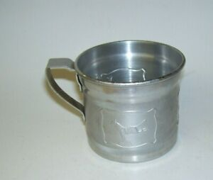Antique Nursery Rhyme Child's Tin Cup