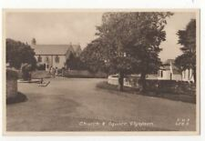 Church & Square Llysfaen North Wales Vintage Postcard 808b