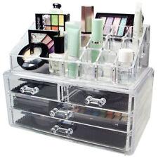 Cosmetici Make Up Display Gioielli Organizer Trasparenti Acrilico STORAGE supporto disegnare UK