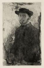"Self Portrait Etching (1857) by Edgar Degas - 17"" x 22"" Fine Art Print - 01109"