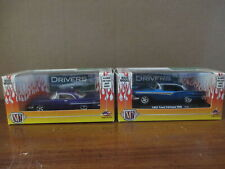 M2 Machines 1:64 Car Lot 1957 Ford Fairlane 500 Blue Chrysler 300C Purple