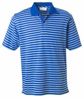 Ashworth Men's Moisture Short Sleeve Dual Tone Stripes Pique Polo T-Shirt. 2048