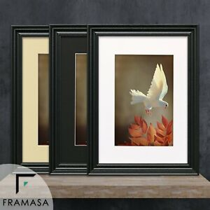 Big Swept Picture Frame White Poster Size Frames Black Photo Frame With Mounts